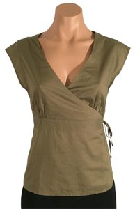 Gap Wrap Tie Olive Top Green