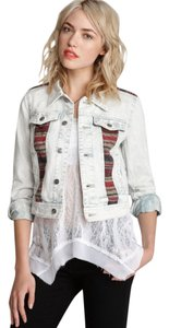 Free People Distressed Denim Woven Womens Jean Jacket