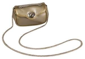 Folli Follie Silver Gold Chain Leather Cross Body Bag