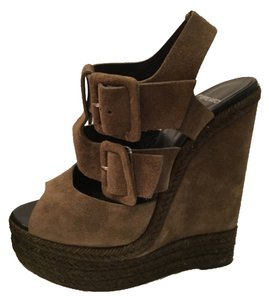 Pierre Hardy Dark olive Wedges