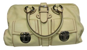 Marc Jacobs Suede Leather Satchel in Ivory