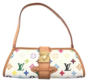 Louis Vuitton Shirley Murakami Evening Cute Gold Gold Hardware white/multicolor Clutch