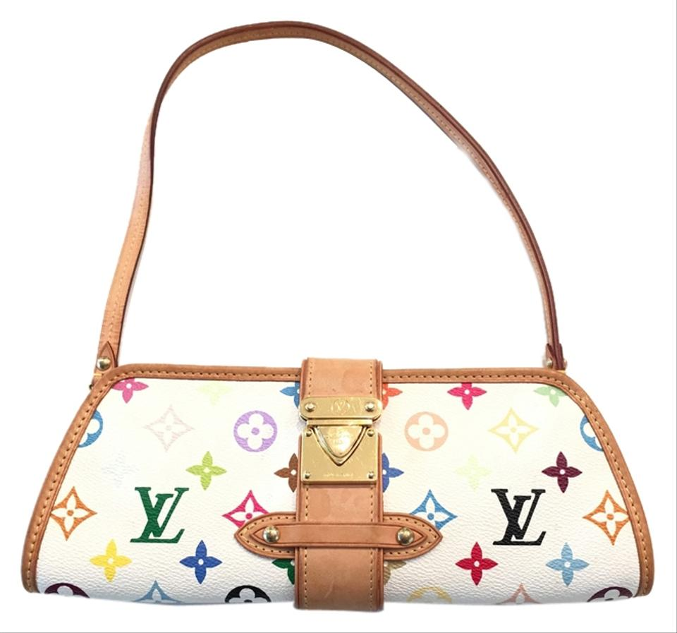 915222e5ba13 Louis Vuitton Shirley Murakami Evening Cute Gold Gold Hardware white multicolor  Clutch Image 0 ...