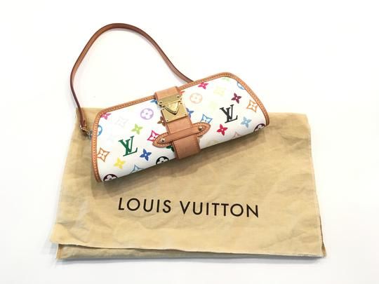 Louis Vuitton Shirley Murakami Evening Cute Gold Gold Hardware white/multicolor Clutch Image 2