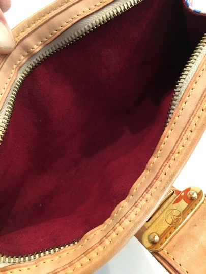 Louis Vuitton Shirley Murakami Evening Cute Gold Gold Hardware white/multicolor Clutch Image 6