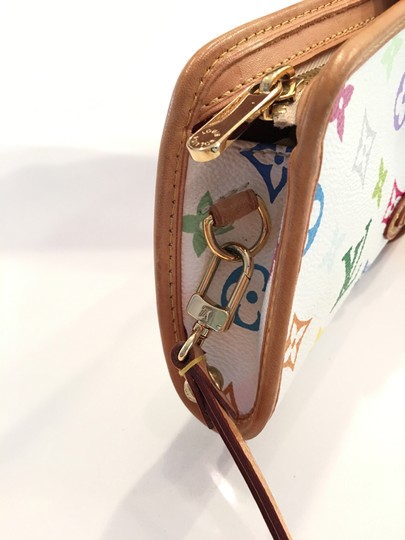 Louis Vuitton Shirley Murakami Evening Cute Gold Gold Hardware white/multicolor Clutch Image 7
