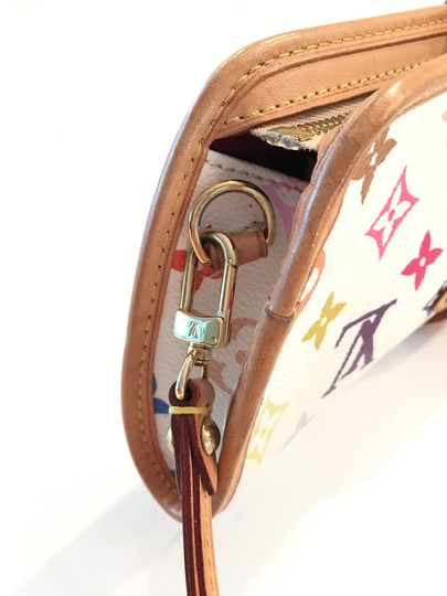 Louis Vuitton Shirley Murakami Evening Cute Gold Gold Hardware white/multicolor Clutch Image 8