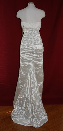 Nicole Miller Bridal Antique White Sweetheart Organza Techno Gown 14 Ea0040 Formal Wedding Dress Size 10 (M) Image 6