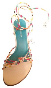 Colin Stuart White & Multi Color Straps Sandals