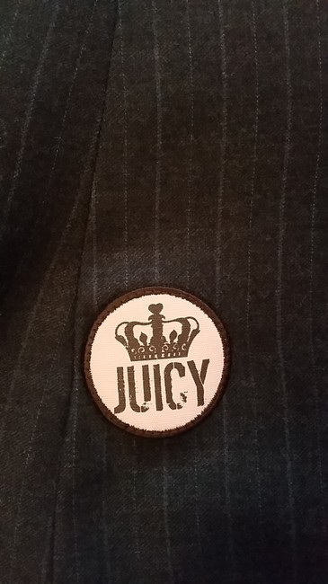 Juicy Couture Pinstri Pinstripe Fitted Black / Pink Blazer Image 3