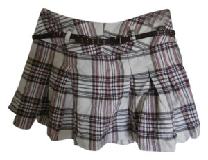 Mudd Plaid Mini Skirt Brown/Tan