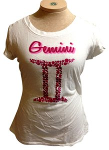 Rocker Girl T Shirt White/Pink