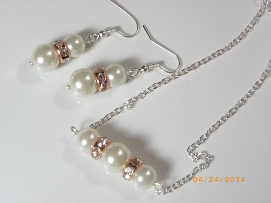 Cream White Sale Of 6 Bridesmaid Necklace and Earrings Of 6 Ivory Pearl Earrings Rhinestone Crystal Earrings Jewelry Set