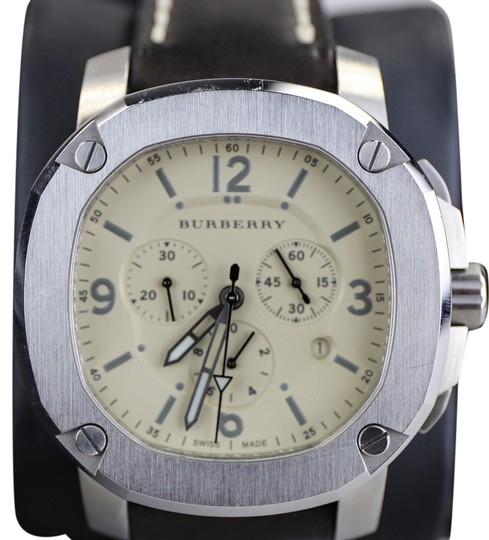 Preload https://img-static.tradesy.com/item/8833429/burberry-steel-with-dark-brown-strap-men-s-the-britain-chronograph-bby1101-leather-watch-0-3-540-540.jpg