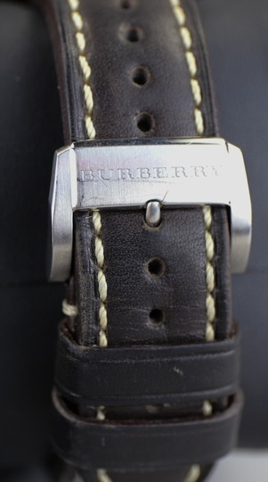 Burberry Burberry Men's The Britain Chronograph Watch BBY1101 Leather Strap Image 3