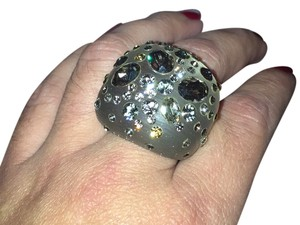 Alexis Bittar Lucite Encrusted Ring