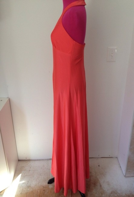 Other 70's Maxi Halter Poly Spring Summer Chic Sexy Classic Wedding Versatile Long Orange Dress