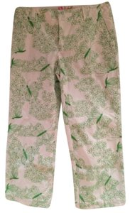 Lilly Pulitzer Capris Green and White