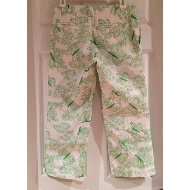 Lilly Pulitzer Capris Green and White Image 1