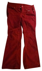 Victoria's Secret Corduroy Flare Flare Pants Red Berry