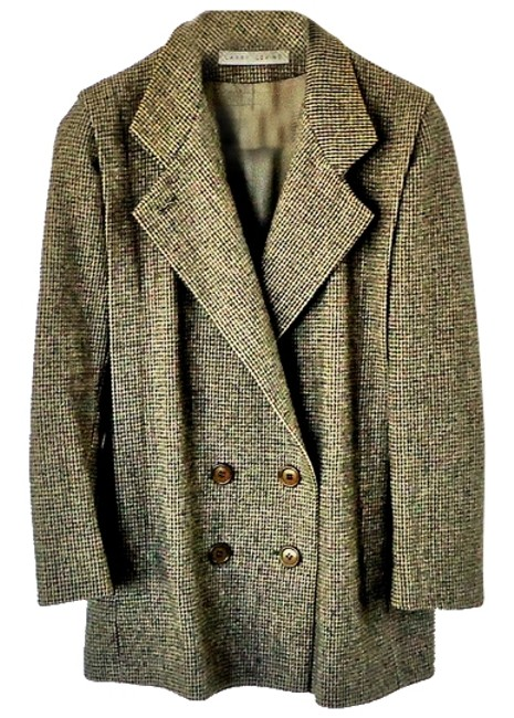 Larry Levine Wool Embellished Tweed Textured Pea Coat Image 0