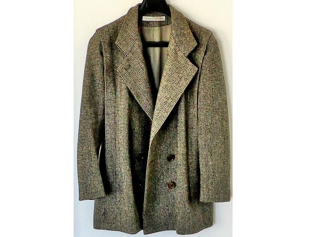 Larry Levine Wool Embellished Tweed Textured Pea Coat Image 1
