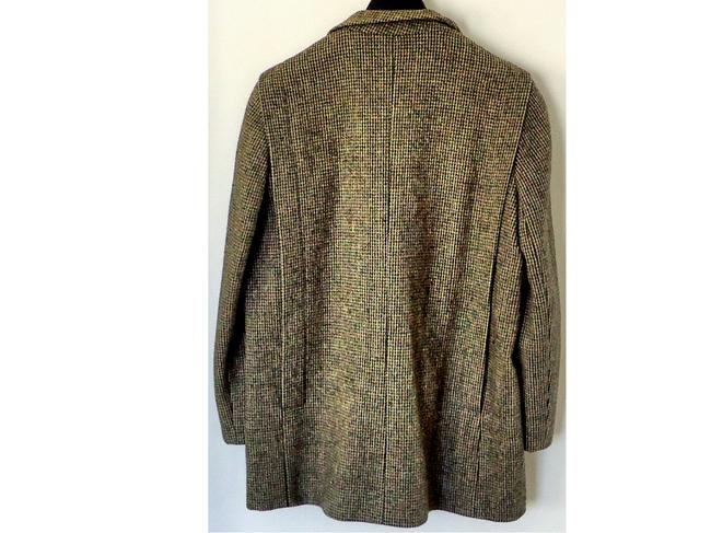 Larry Levine Wool Embellished Tweed Textured Pea Coat Image 2