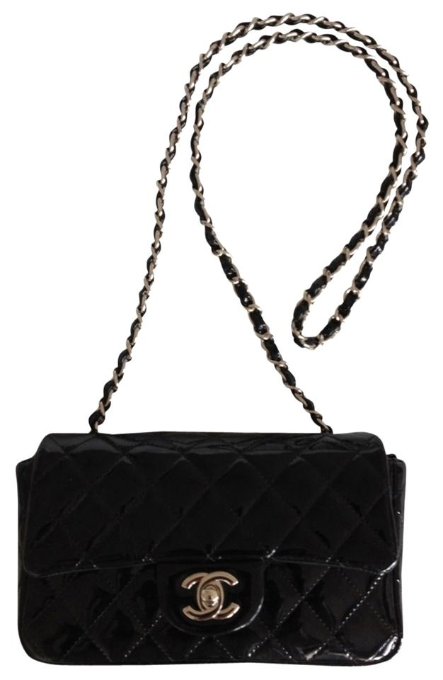 Chanel Patent Leather Rectangle Mini Shoulder Cross Body Bag