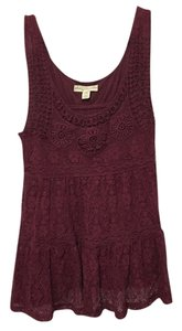 Urban Outfitters Lace Top Maroon