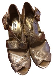 Michael Kors Gold/beige Sandals