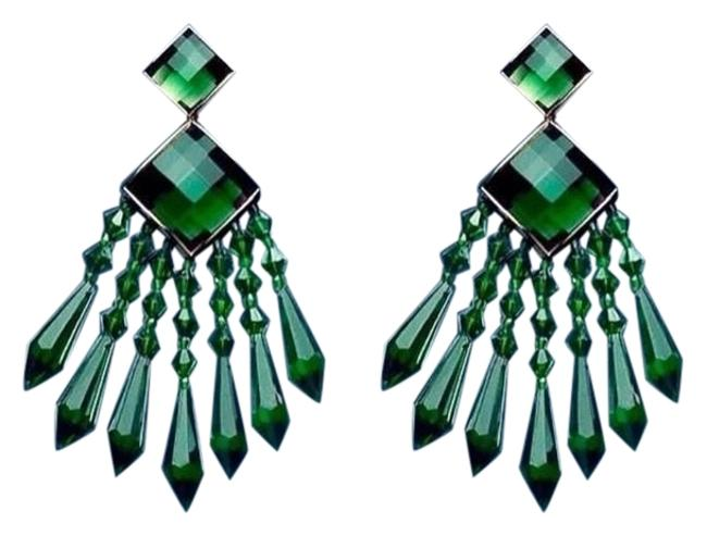 Item - Green/Gold Colored For Limited Edition Collection Rhinestone Earrings