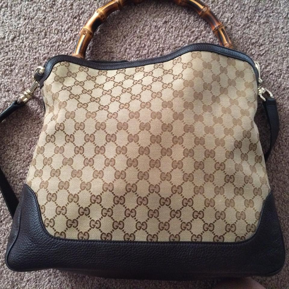 d3d178ab534fa5 Gucci Tote Diana Hobo Gg Canvas with Bamboo Handle Brown Cross Body ...