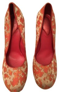 Bottega Veneta Multi coral print Pumps