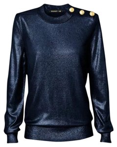 Balmain x H&M Shimmery Gold Top Dark Blue