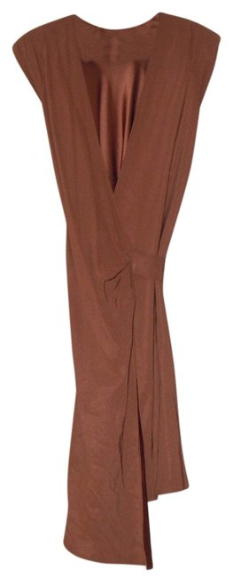 Item - Brown Wrap Mid-length Formal Dress Size 6 (S)