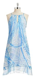 Marc New York short dress BLUE V Back Keyhole Chiffon Flowy on Tradesy