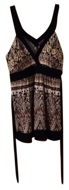 JTB Black Trim/ Black, Brown, Tan Print Halter Top