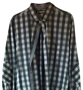 Express Button Down Shirt Grey/ White