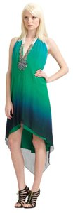 Haute Hippie Silk Ombre Beading Fancy Gala Dress