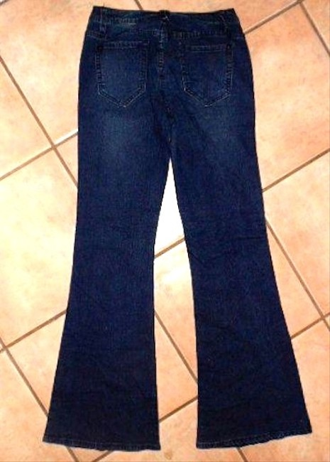 JustFab Size 25 Size 0 P488 Flare Leg Jeans-Dark Rinse