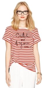 Kate Spade Graphic T Shirt Red, white