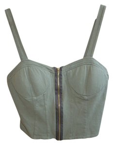 Full Tilt Crop Summer Girls Top Olive
