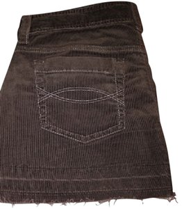 Abercrombie & Fitch Corduroy Summer Mini Skirt Brown
