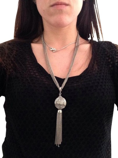 Other Silver Tassel Necklace