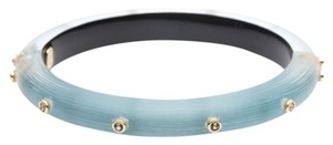 Alexis Bittar Alexis Bittar Blue Lucite And Crystal Hinged Bangle Bracelet New
