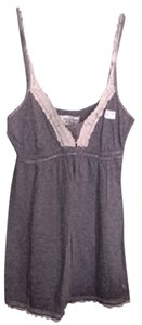 Abercrombie & Fitch Flowy Lace Comfortable Top Gray