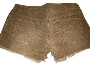 Abercrombie & Fitch Brown Faded Cut Off Shorts dark tan
