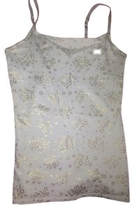 Express Top White w/ Gold Stars
