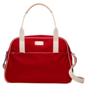 Kate Spade Kennedy Park Milla Weekender Traveler Handbag Red Travel Bag
