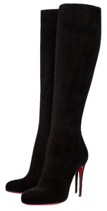 Christian Louboutin Suede Black Boots